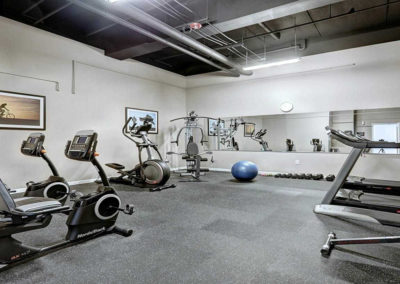 On-site fitness center at The Lofts at Worthington in Lancaster, PA